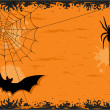 Halloween night with bat and spider — ストックベクタ #3780909
