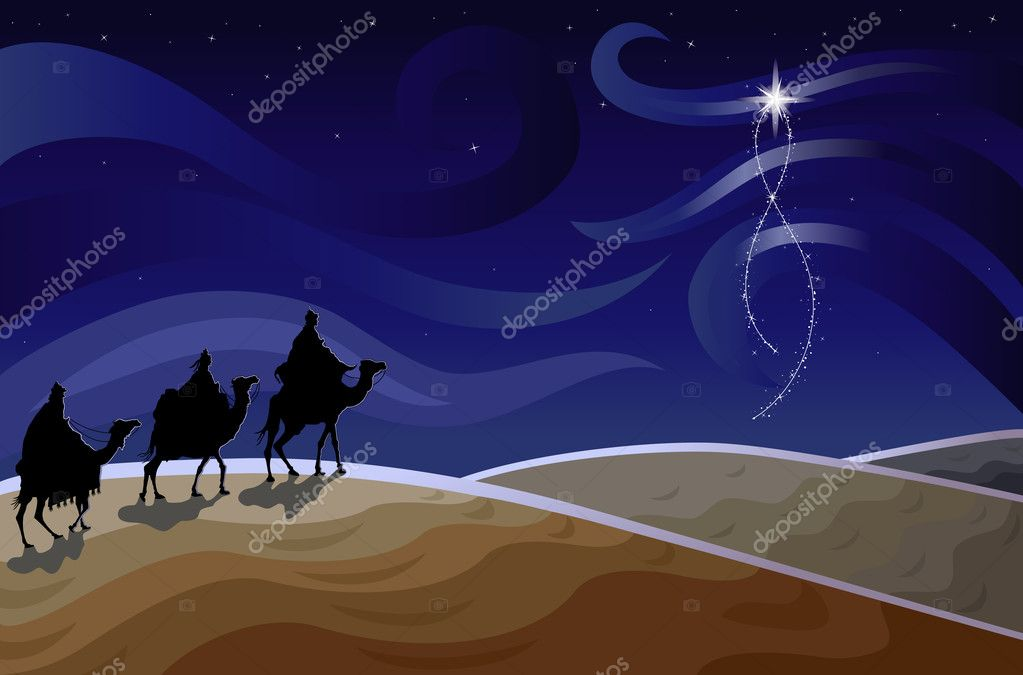 Download three wise men and the star stock illustration 3780904