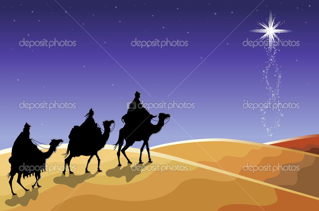 Download the three wise men stock illustration 3885672