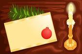 Write a Christmas card — Stock Vector