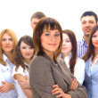 Businesswoman and his team isolated over — Stock Photo #2806555