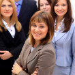 Businesswoman and his team isolated over — Stock Photo