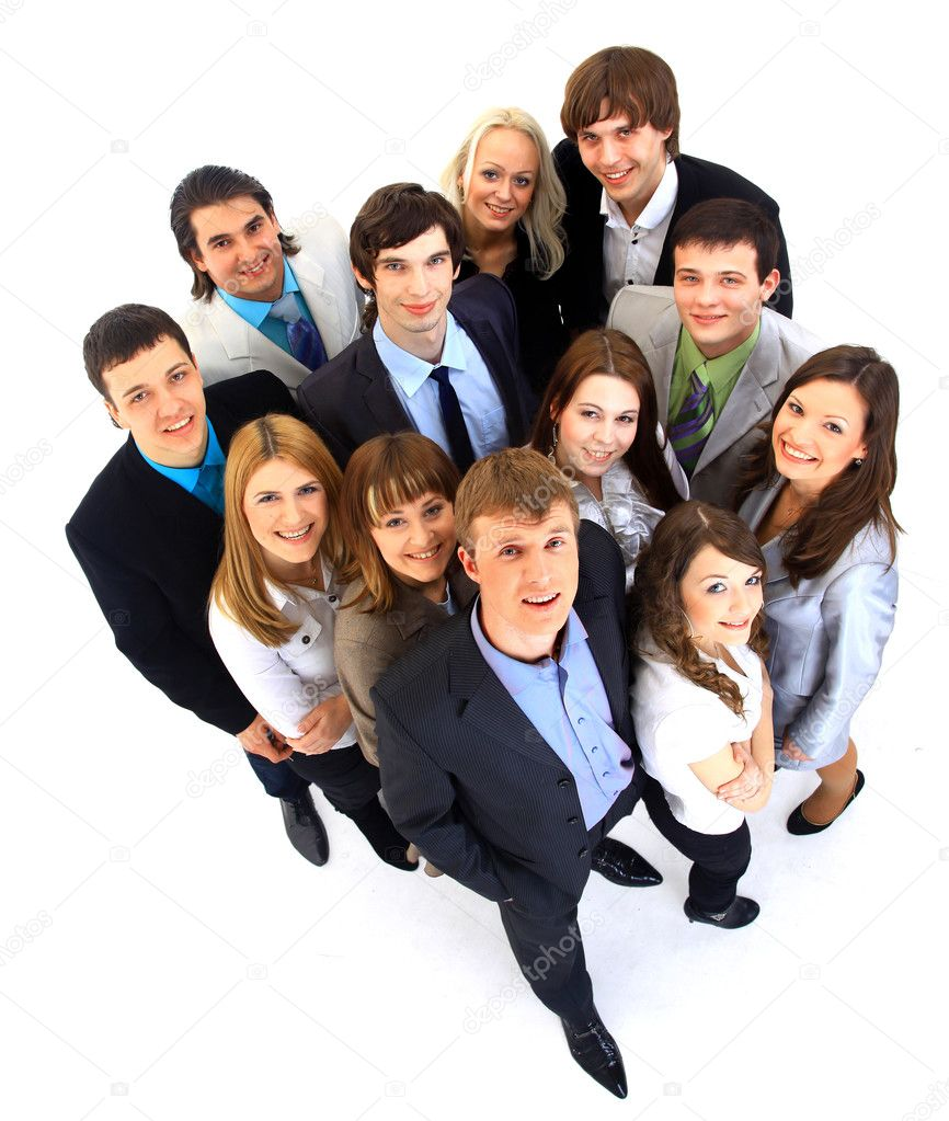 Portrait of smiling business against white background  Stock Photo #2806432