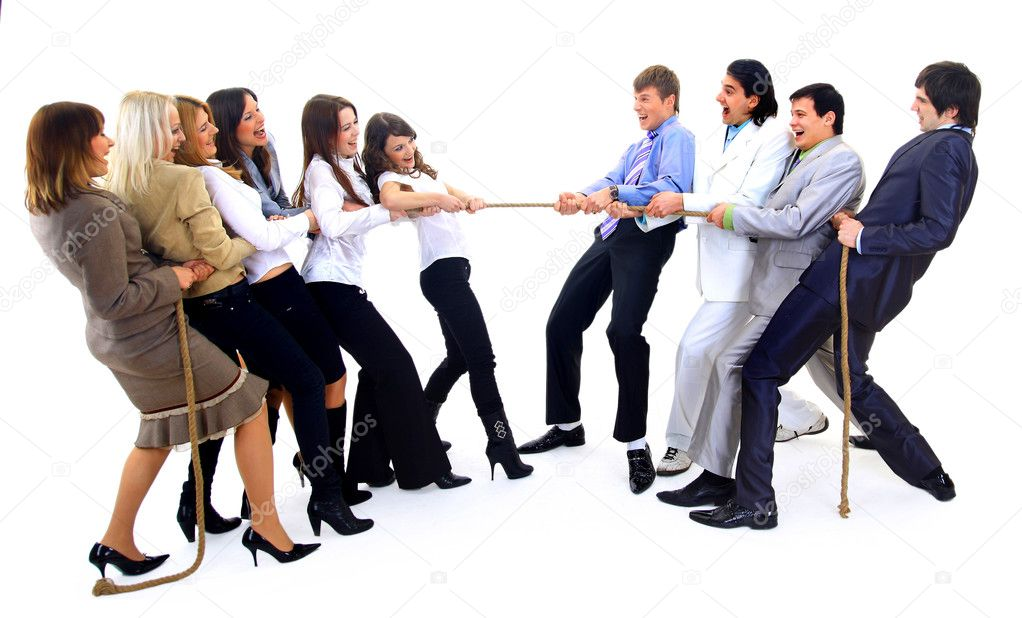Businesscompetition-Teams struggleing to win — Stock Photo #2806487