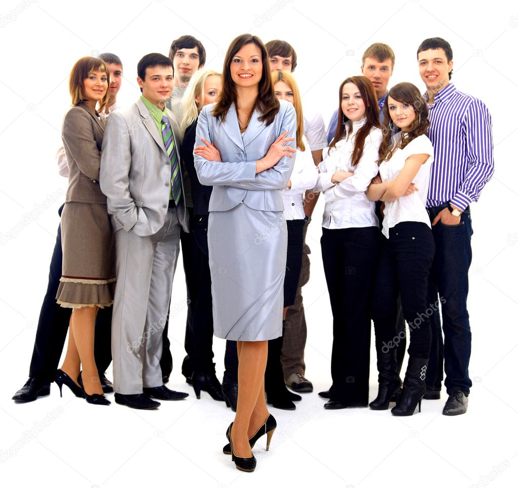 Visionary young business group - Mature business man with his colleagues in the background — Stock Photo #2806498