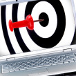 Success target in laptop - Stock Photo