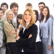 Businesswoman and his team - Foto Stock