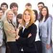 Businesswoman and his team — Stock Photo