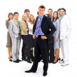 Business man and his team — Stock Photo #2891013