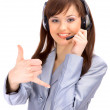 Business customer support operator woman smiling - isolated — Stock Photo #2891441