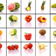 Mixed fruits collection — Stockfoto