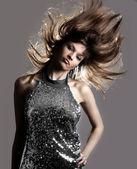 Glamour stylish beautiful woman — Stock Photo