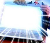 ноутбук с пустой экран, полезные для c — Стоковое фото
