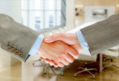 Handshake isolated on white background — Stock Photo