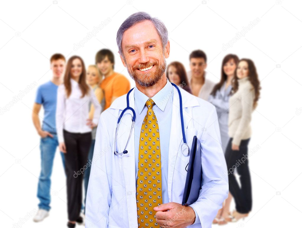 Beautiful senior doctor with stethoscope — Stock Photo #2892175