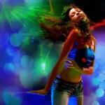 Portrait of a beautiful dancing girl — Stock Photo #3070826