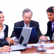 Stock Photo: Business team or group at a meeting