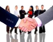 Handshake isolated on white background — Stock Photo