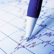 Stock market graphs and charts — Stock Photo