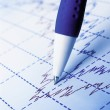 Photo: Stock market graphs and charts