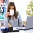 Woman working on office — Stock Photo #3159129