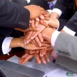 Handshake and teamwork - Foto de Stock  