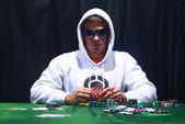 Giocatore di poker cool — Foto Stock