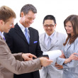 Business team or group at a meeting — Stock Photo #3231551