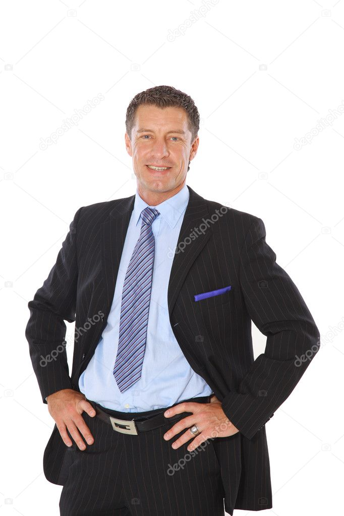 Isolated portrait of a senior executive businessman. Cheerful and in a suit — Stock Photo #3231791