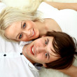Close up portrait of a happy young couple — Stock Photo #4176491