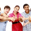 Cheerful group of young . Isolated. — Stock Photo #4176543