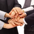 Handshake and teamwork - 图库照片
