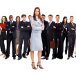Businesswoman and his team — Stock Photo #4179316