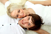 Close up portrait of a happy young couple — Stock Photo
