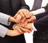 Handshake and teamwork — Stock Photo