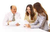 Business group isolated — Stock Photo