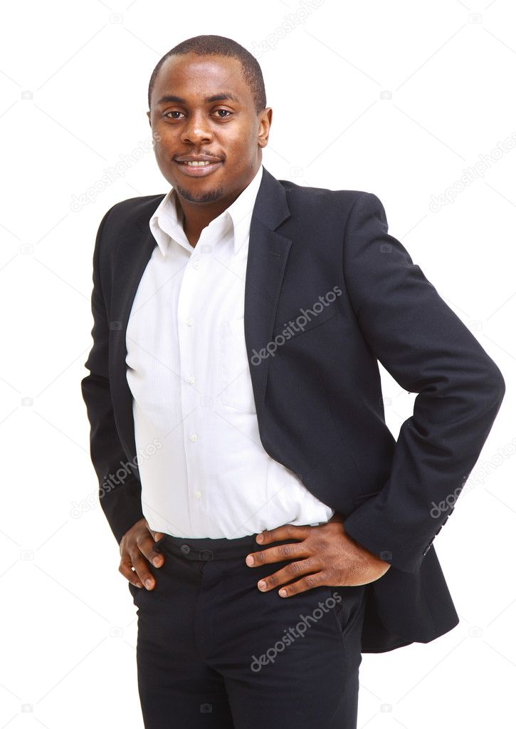 Closeup portrait of a successful African American business man  — Stock Photo #4176689