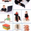 The child to study - Stok fotoraf
