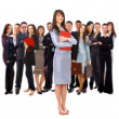 Stock Photo: Visionary young business group - Mature business man with his colleagues in