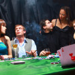 Group of sinister poker players — Stock Photo #4227136