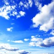 Blue sky background with tiny clouds — Stok fotoğraf