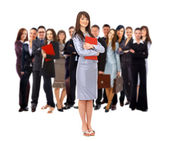 Visionary young business group - Mature business man with his colleagues in — Stockfoto