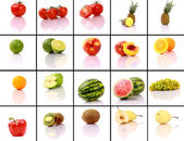 смешанные фрукты коллекции — Стоковое фото