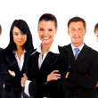 Businesswoman and his team — Foto Stock
