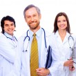 Portrait of group of smiling hospital colleagues standing together — Stock Photo #4248397