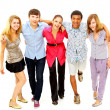 Cheerful group of young . Isolated. — Stock Photo #4248689