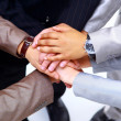Handshake and teamwork - Foto Stock