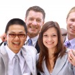 Beautiful young businessteam — Stock Photo