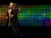 Tango couple dancing — Stock Photo
