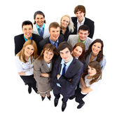 Large group of business . Over white background — Stock Photo